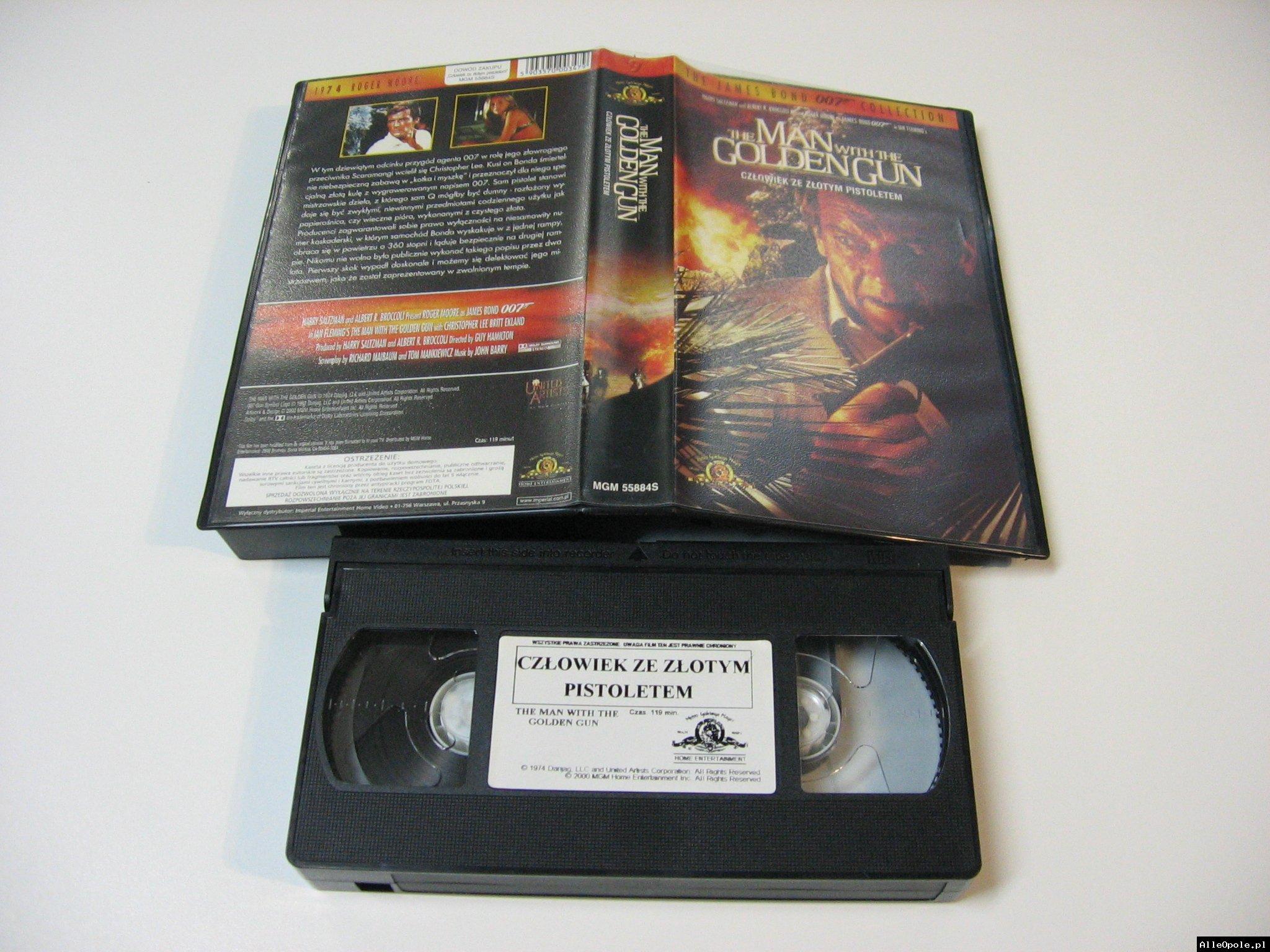 007 CZŁOWIEK ZE ZŁOTYM PISTOLETEM - VHS Kaseta Video - Opole 1725