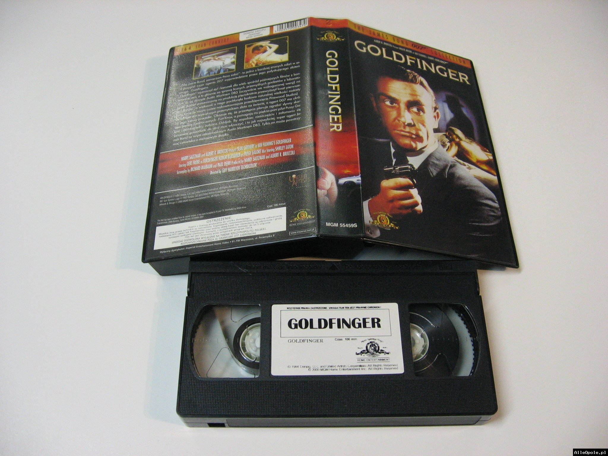 007 GOLDFINGER - VHS Kaseta Video - Opole 1737