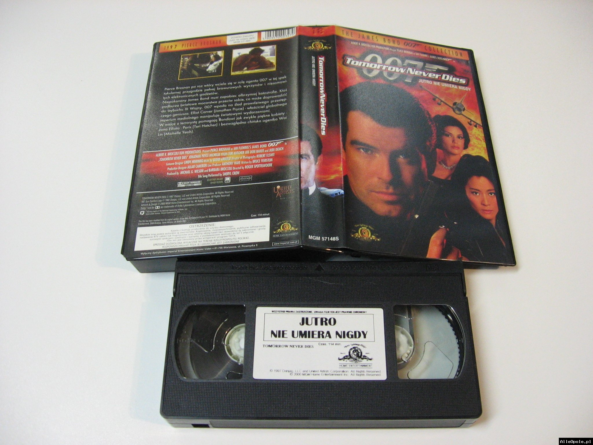 007 JUTRO NIE UMIERA NIGDY - VHS Kaseta Video - Opole 1730