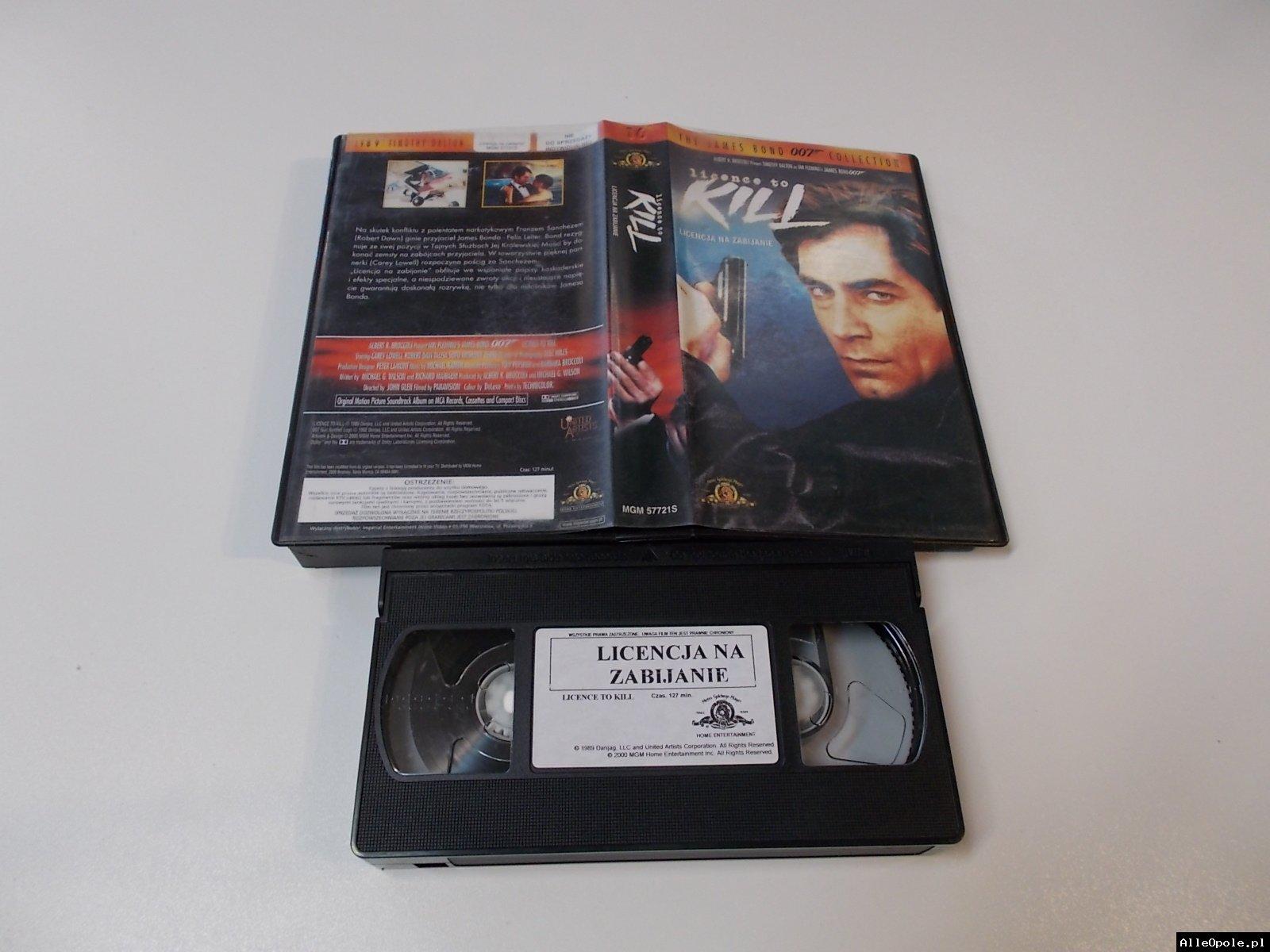 007 LICENCJA NA ZABIJANIE - VHS Kaseta Video - Opole 1711