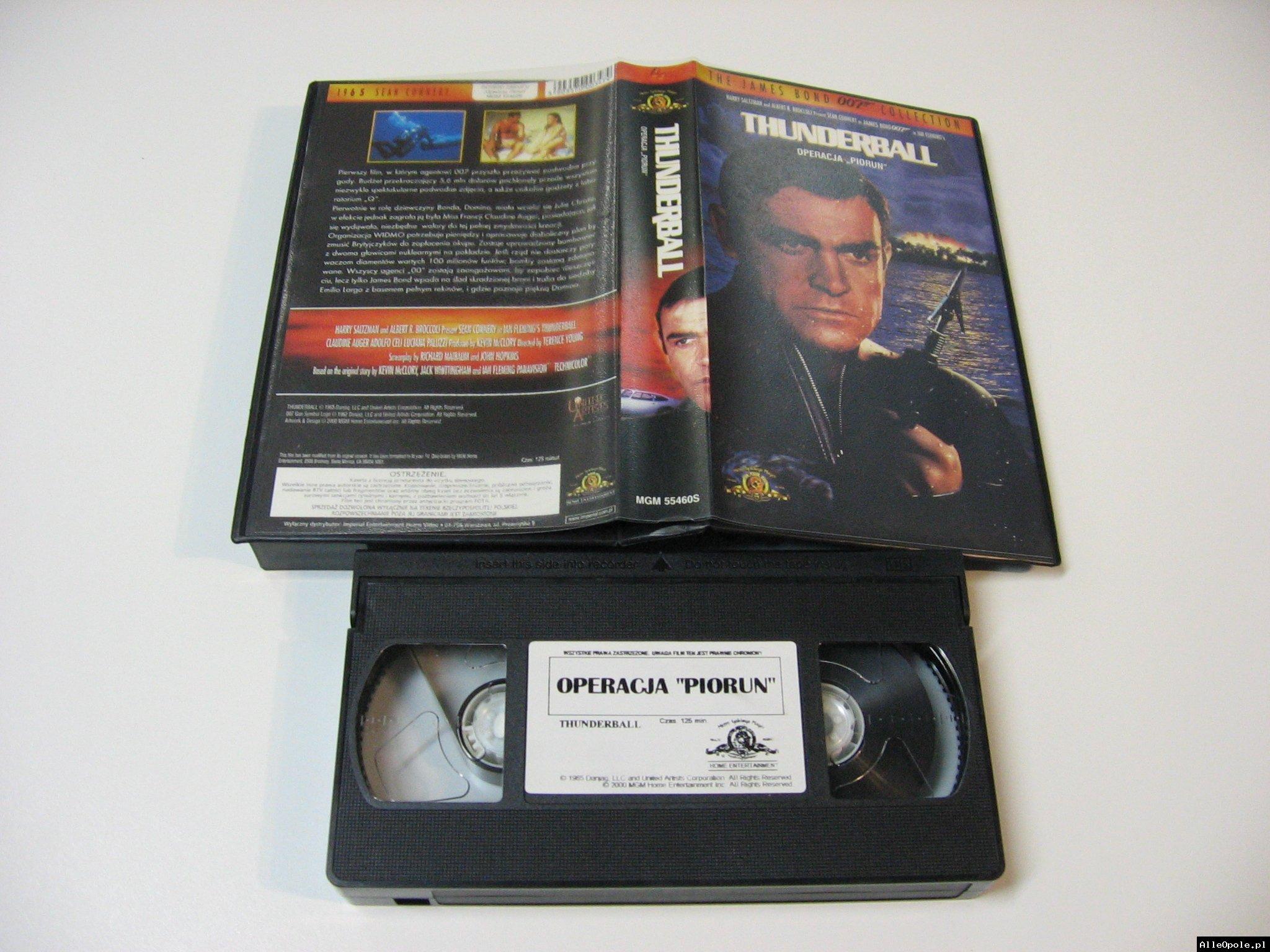007 OPERACJA PIORUN - VHS Kaseta Video - Opole 1738