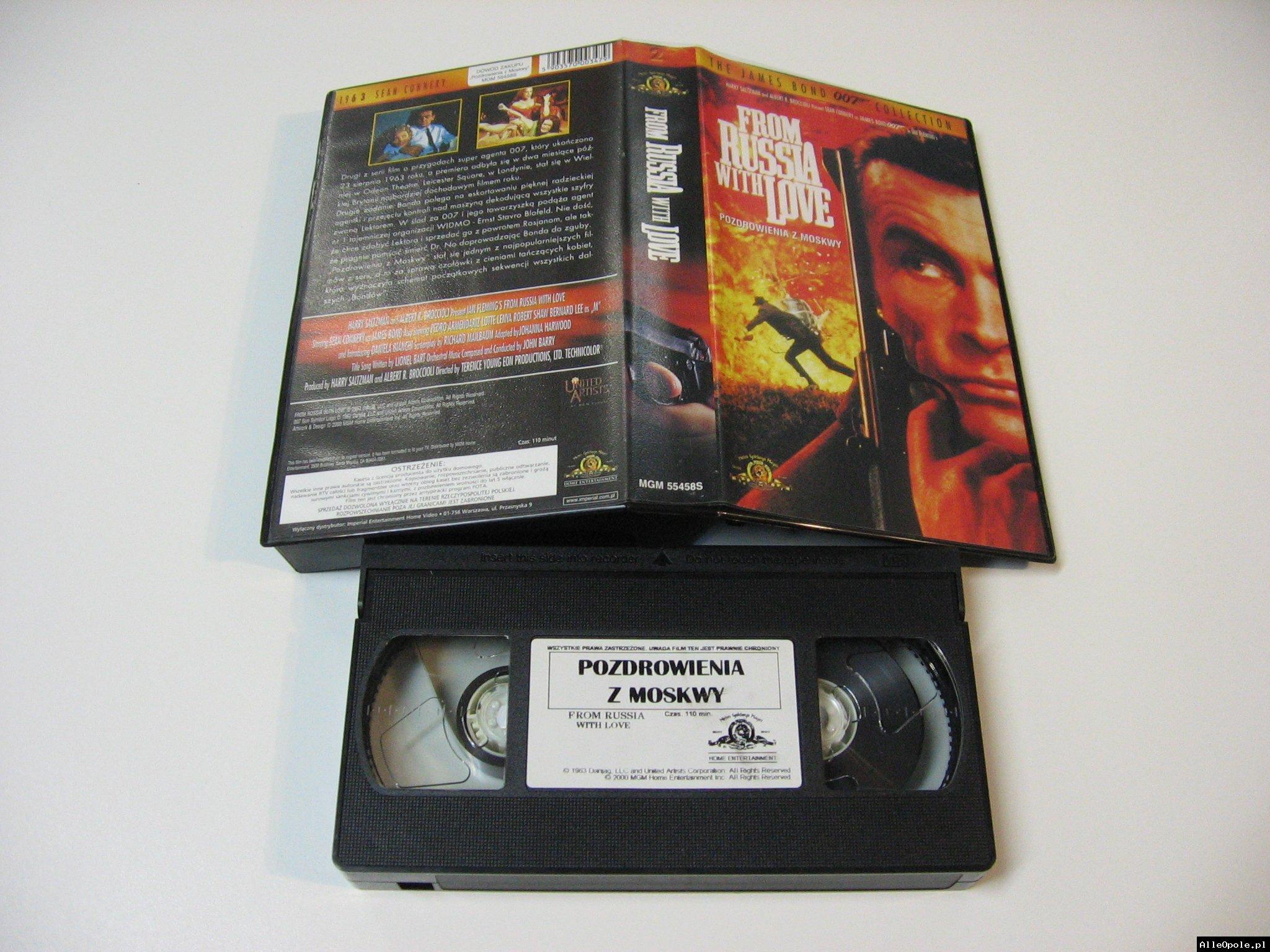 007 POZDROWIENIA Z MOSKWY - VHS Kaseta Video - Opole 1735