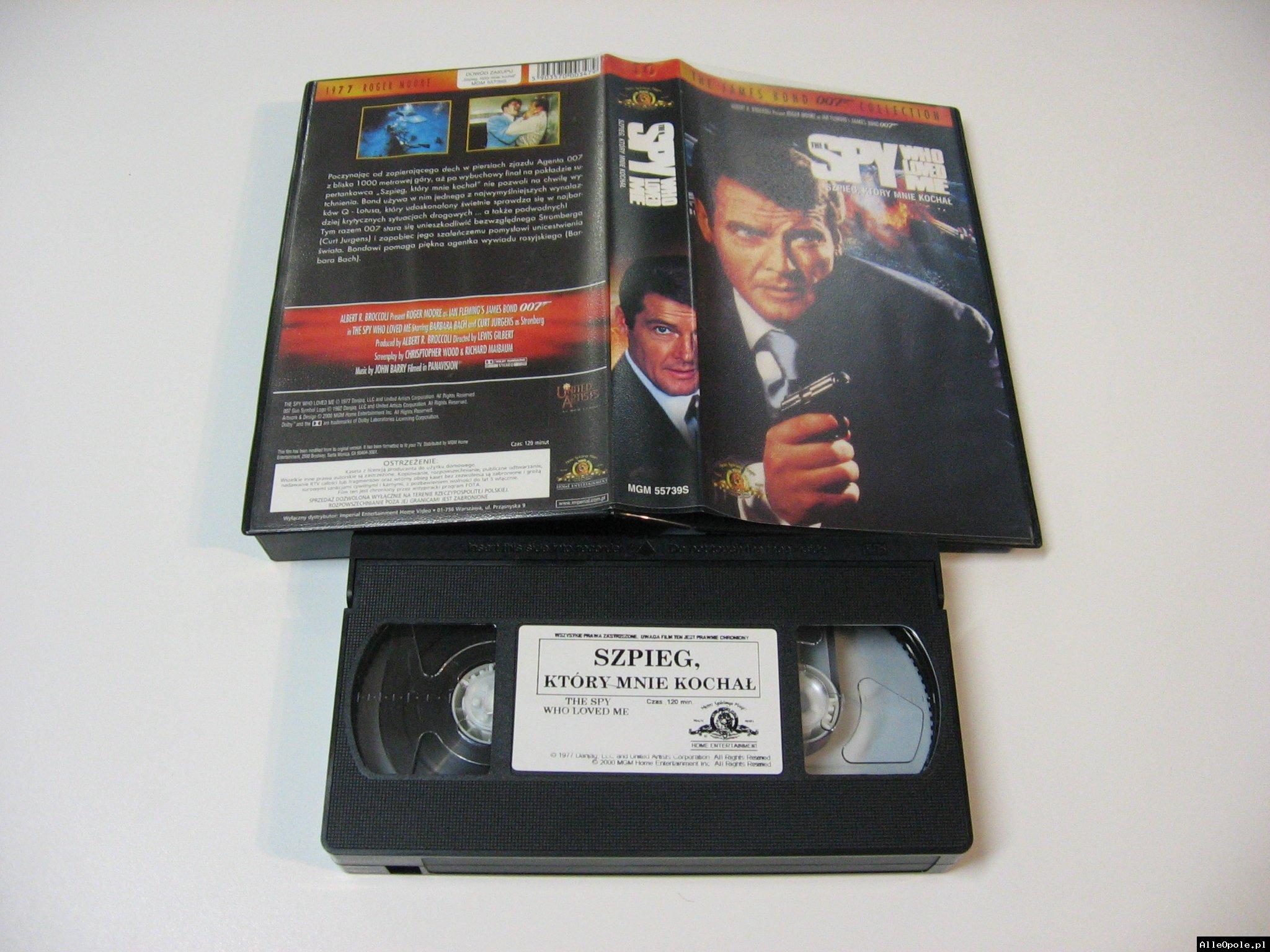 007 SZPIEG KTÓRY MNIE KOCHAŁ - VHS Kaseta Video - Opole 1734