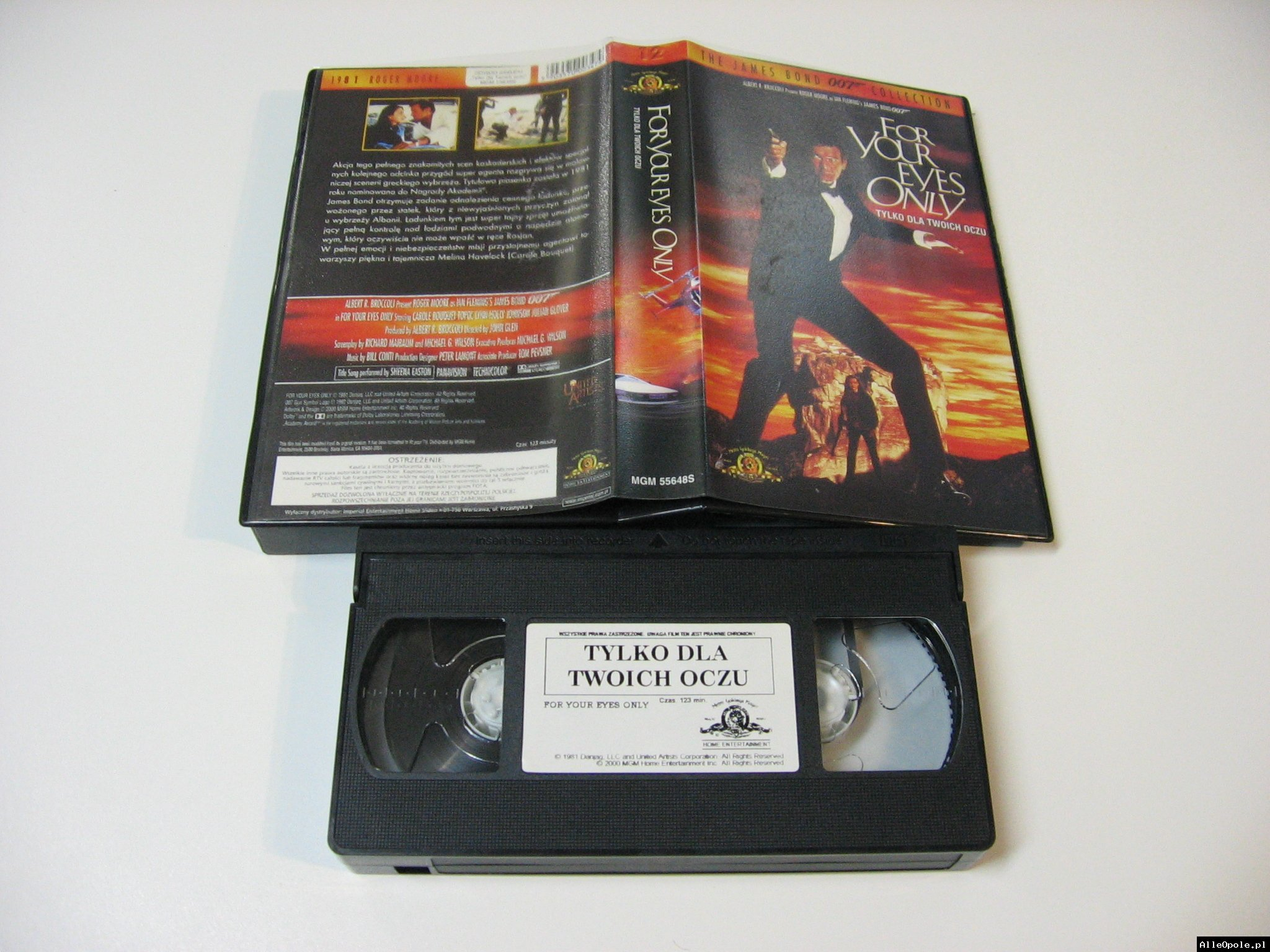 007 TYLKO DLA TWOICH OCZU - VHS Kaseta Video - Opole 1728