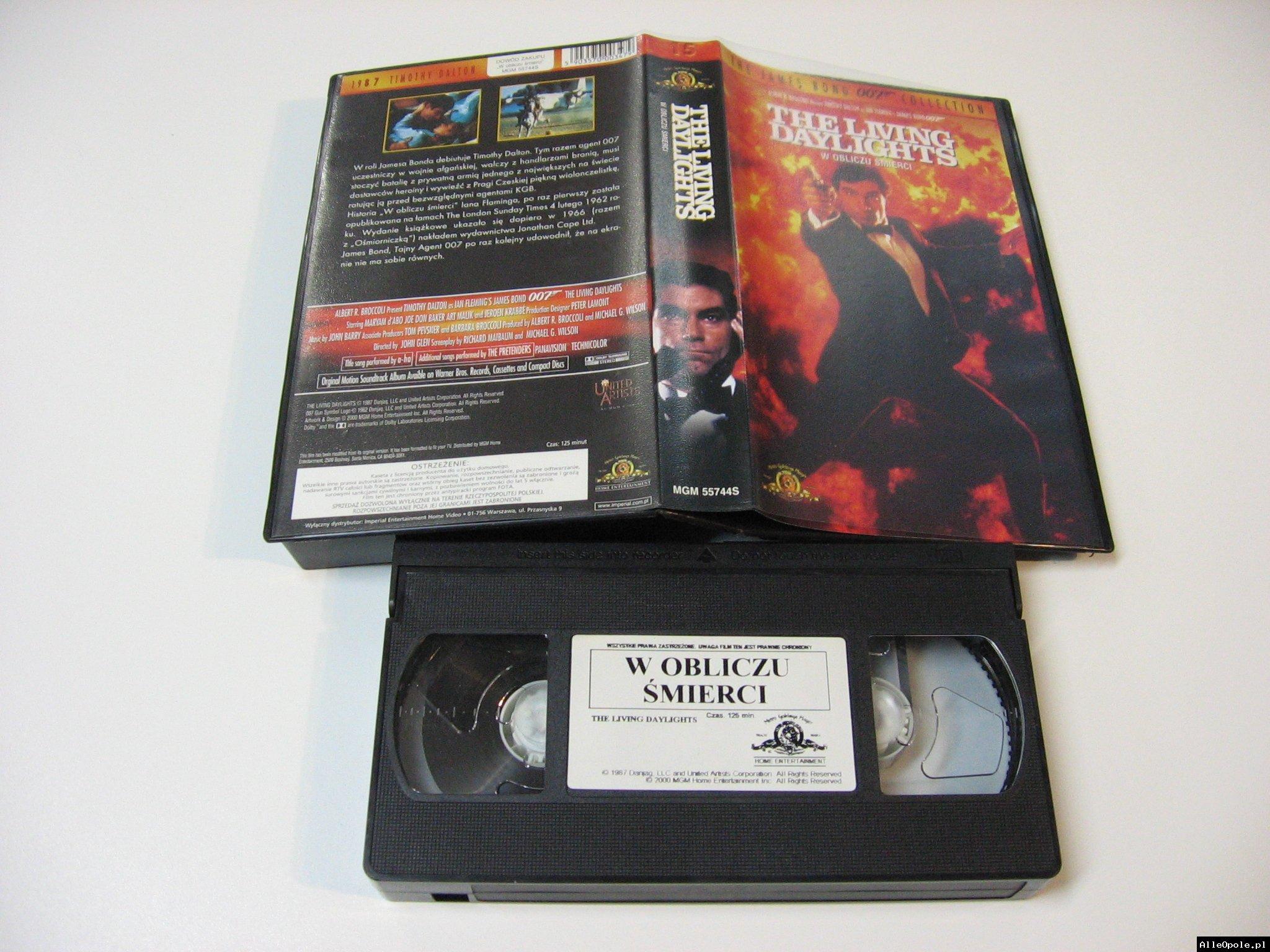 007 W OBLICZU ŚMIERCI - VHS Kaseta Video - Opole 1727