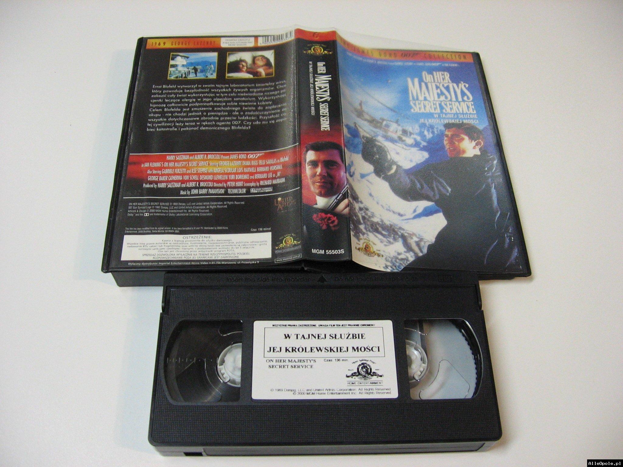 007 W TAJNEJ SŁUŻBIE JEJ KRÓLEWSKIEJ MOŚCI - VHS Kaseta Video - Opole 1740