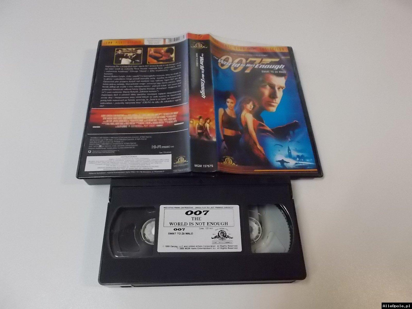 007 ŚWIAT TO ZAMAŁO - VHS Kaseta Video - Opole 1710