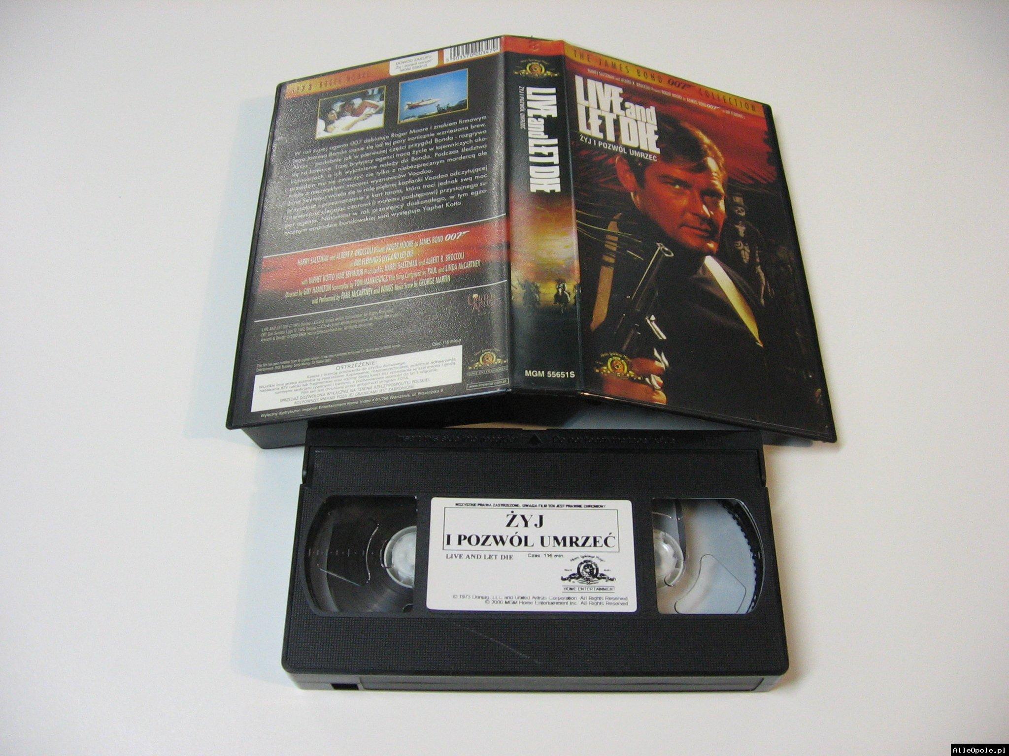 007 ŻYJ I POZWÓL UMRZEĆ - VHS Kaseta Video - Opole 1729