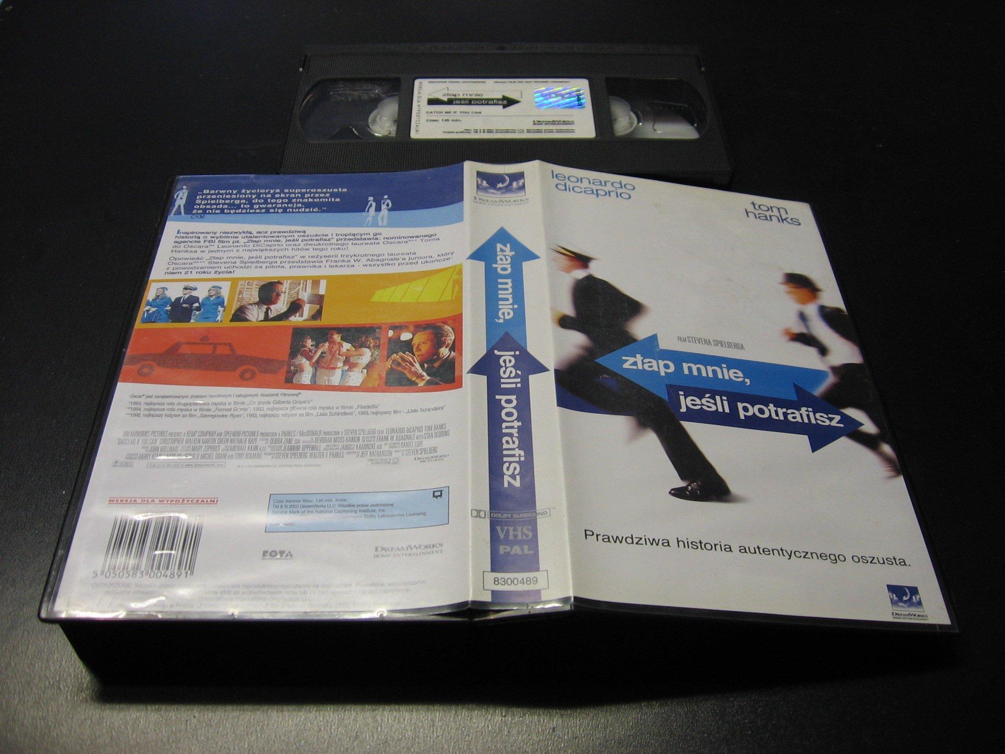 ZŁAP MNIE JEŚLI POTRAFISZ ```````````` VHS ```````````` Opole 0029