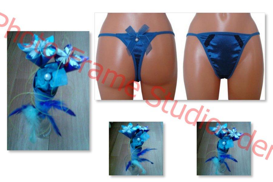 niebieski bukiet ze stringami