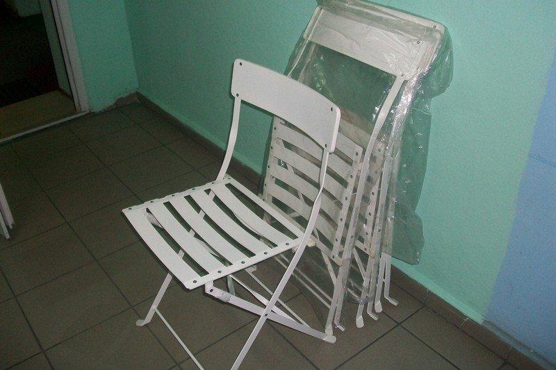 4 składane krzesła do ogrodu lub na taras