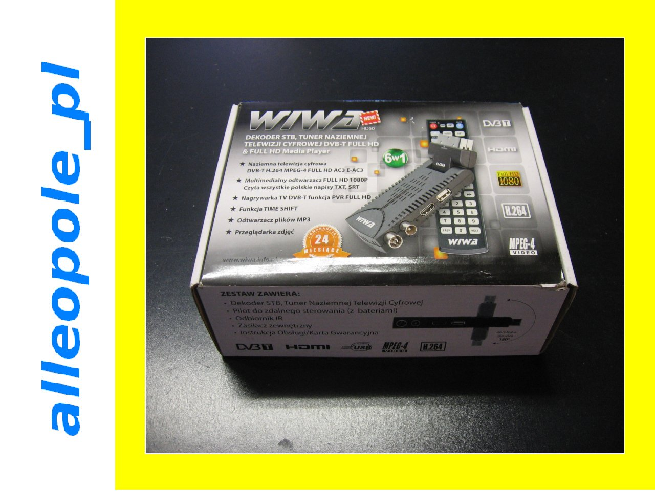 WIWA HD 50 DVB-T CYFROWA TELEWIZJA STB TUNER WAWA - Opole