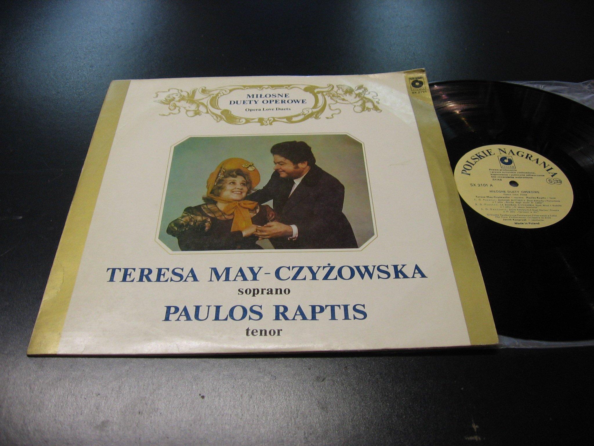 TERESA MAY CZYŻOWSKA PAULOS RAPTIS `````````` LP ```````````` Opole