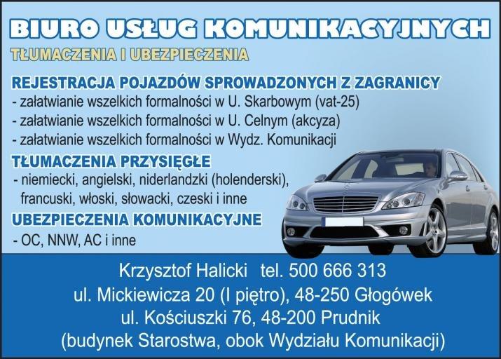 Rejestracja samochodu z zagranicy, tłumaczenia i ubezpieczenia. Krapkowice, Prudnik, Nysa, Opole, Kędzierzyn-Koźle, Głubczyce