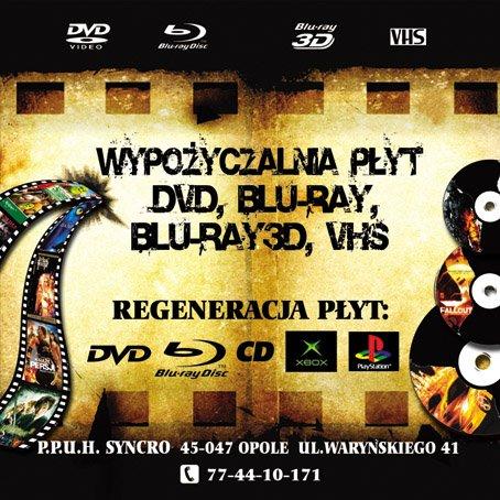 P.P.U.H. SYNCRO OPOLE -WYPOŻYCZALNIA FILMÓW NA PŁYTACH DVD,BLU-RAY
