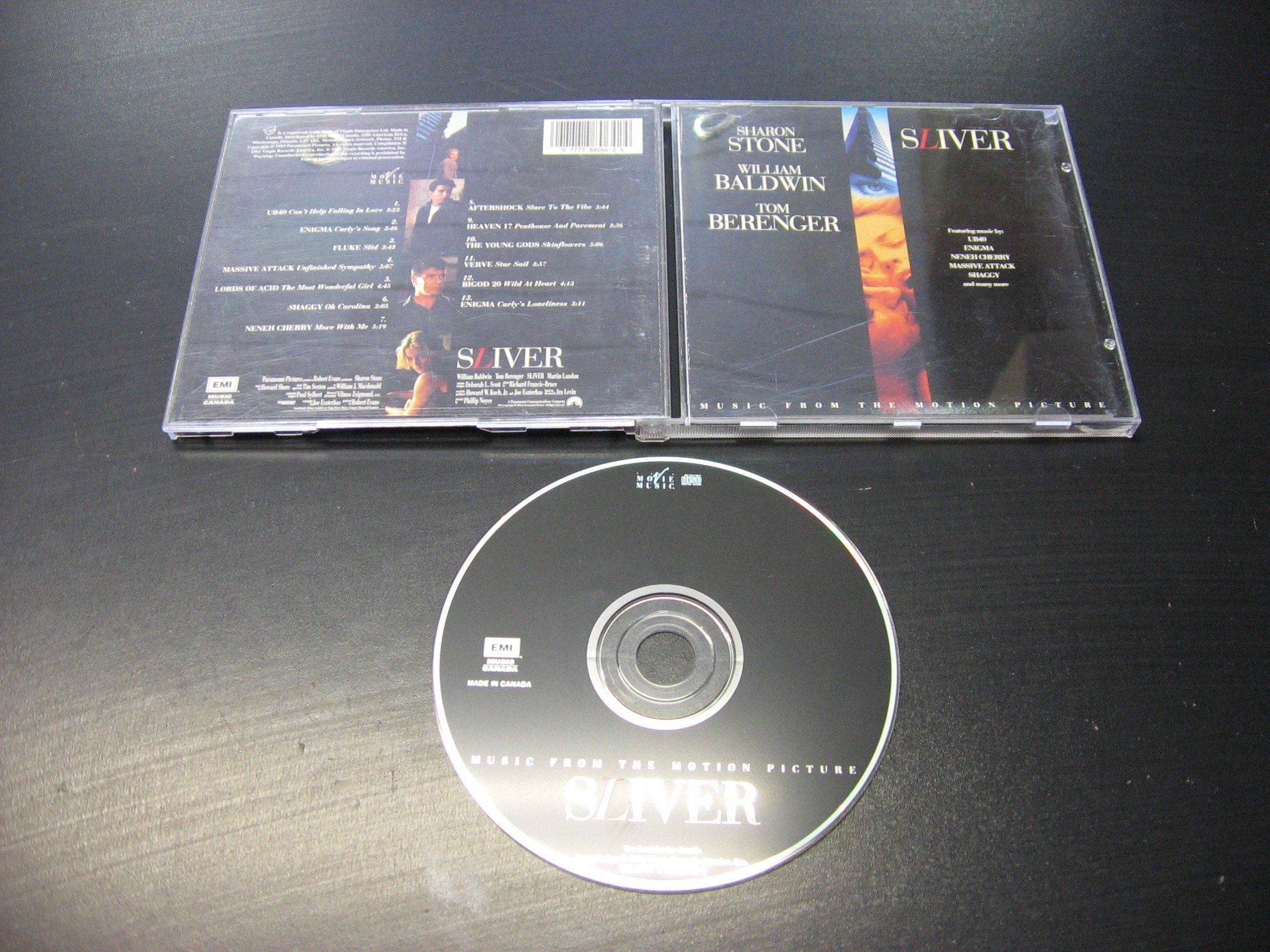 SLIVER - Original Soundtrack ___ CD ___ Opole 0262 ```````````` Opole