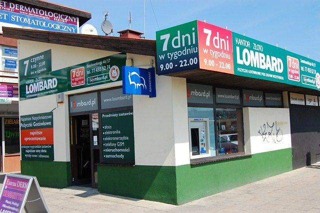LOOMBARD SOSNKOWSKIEGO - pożyczki pod zastaw wszystkiego