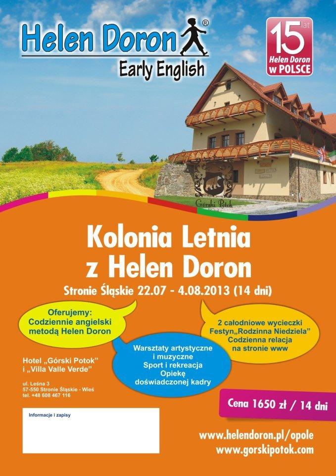 Kolonia Letnia z Helen Doron w Stroniu Śląskim