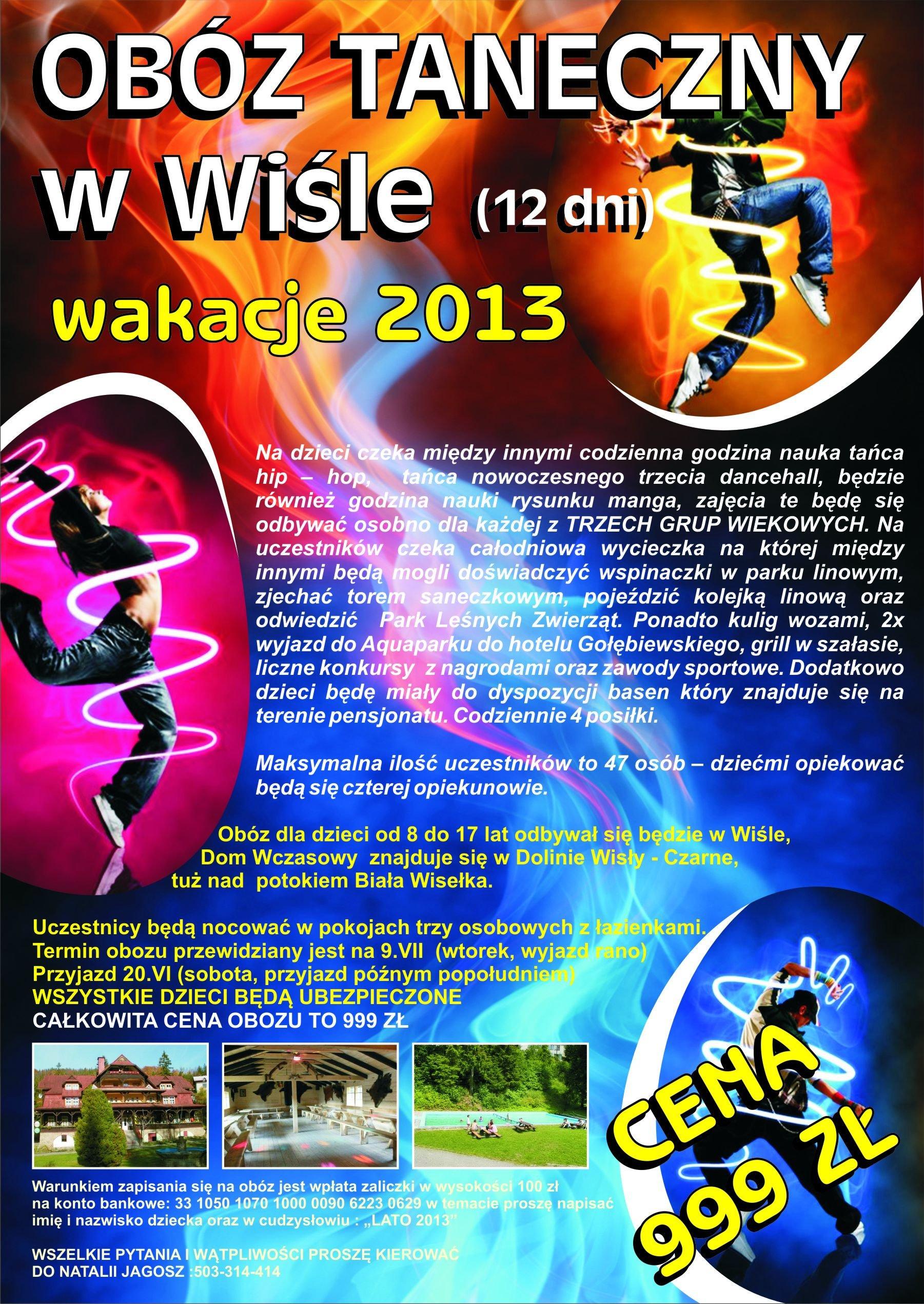 Obóz taneczny w Wiśle ( 09.07 - 20.07.2013)