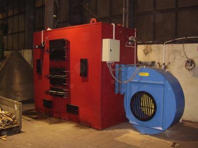 Piec nadmuchowy 500 kW