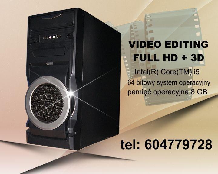 Komputer do montażu video hd, lub 3d z procesorem i5 sprzedam