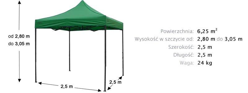 namiot ekspresowy 2,5m x 2,5 m z prezentem  455zł