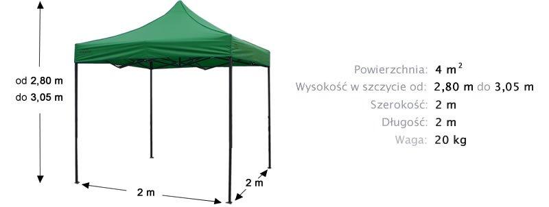 namiot ekspresowy 2x2m targowy 430zł