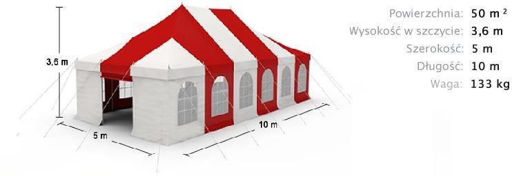 namiot imprezowy 5m x 10m 2960zł