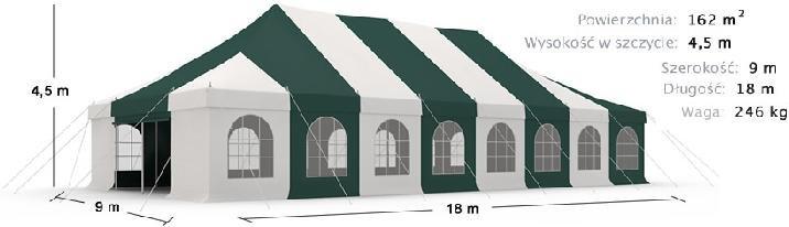 namiot imprezowy 9x18m 8630zł