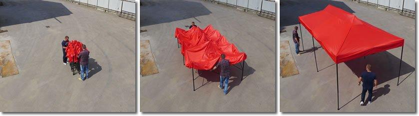 Namiot Ekspresowy 3m x 6m 6 ścianek bocznych W PREZENCIE