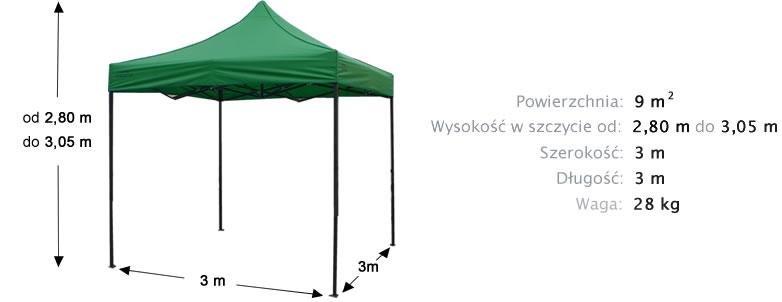 namiot ekspresowy 3x3m z gratisem 480zł