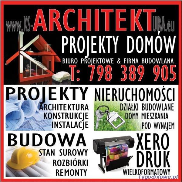 Projekty domów,aranżacje wnętrz,nieruchomośi,architekt Śląsk