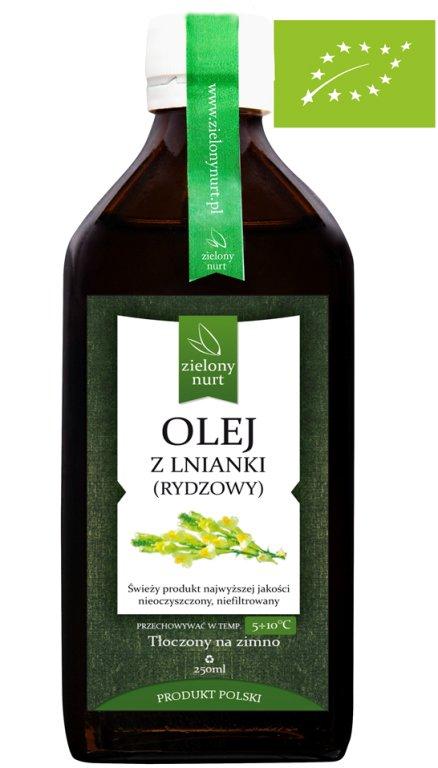 Olej z Lnianki BIO 250 ml, zielony nurt