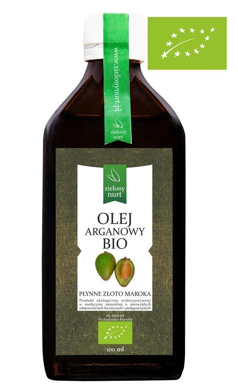 Olej Arganowy BIO spożywczy 100 ml, zielony nurt