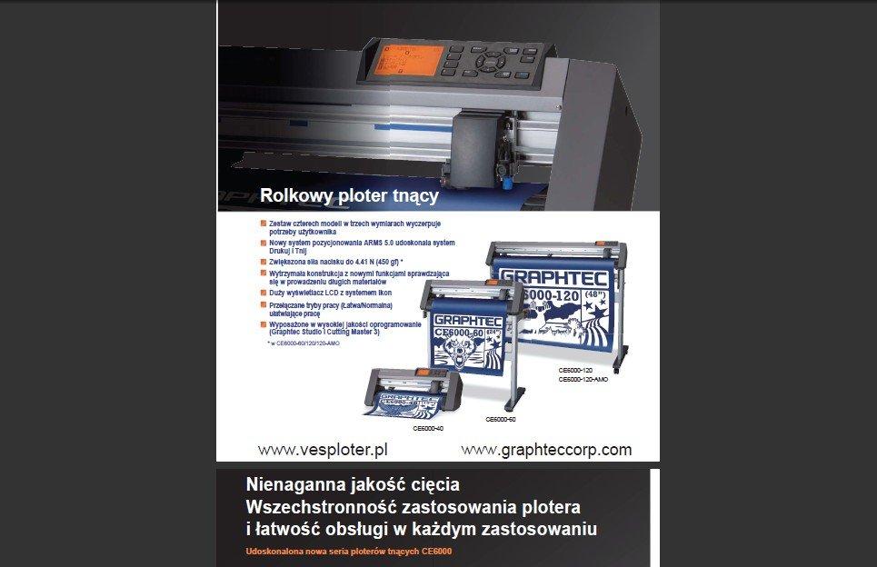 Plotery tnące GRAPHTEC -  używane przez największe firmy reklamowe i poligraficzne! teraz również Ty możesz je mieć!