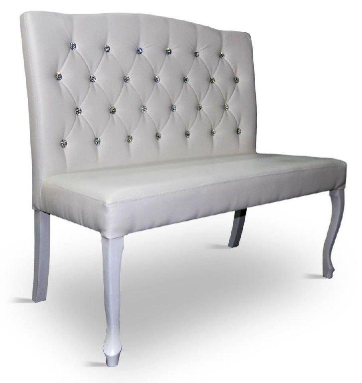 Ławka ludwik tapicerowana pikowana, fotel 98 cm wysokość oparcia