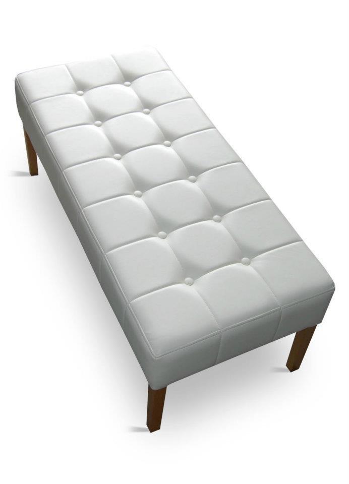 Ławka tapicerowana pufa podwójna pikowana 50 cm x 90 cm