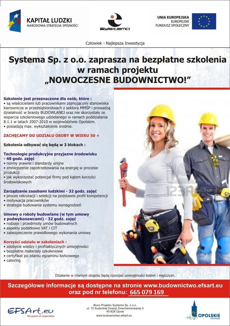 Bezpłatne szkolenia unijne dla branży budowlanej