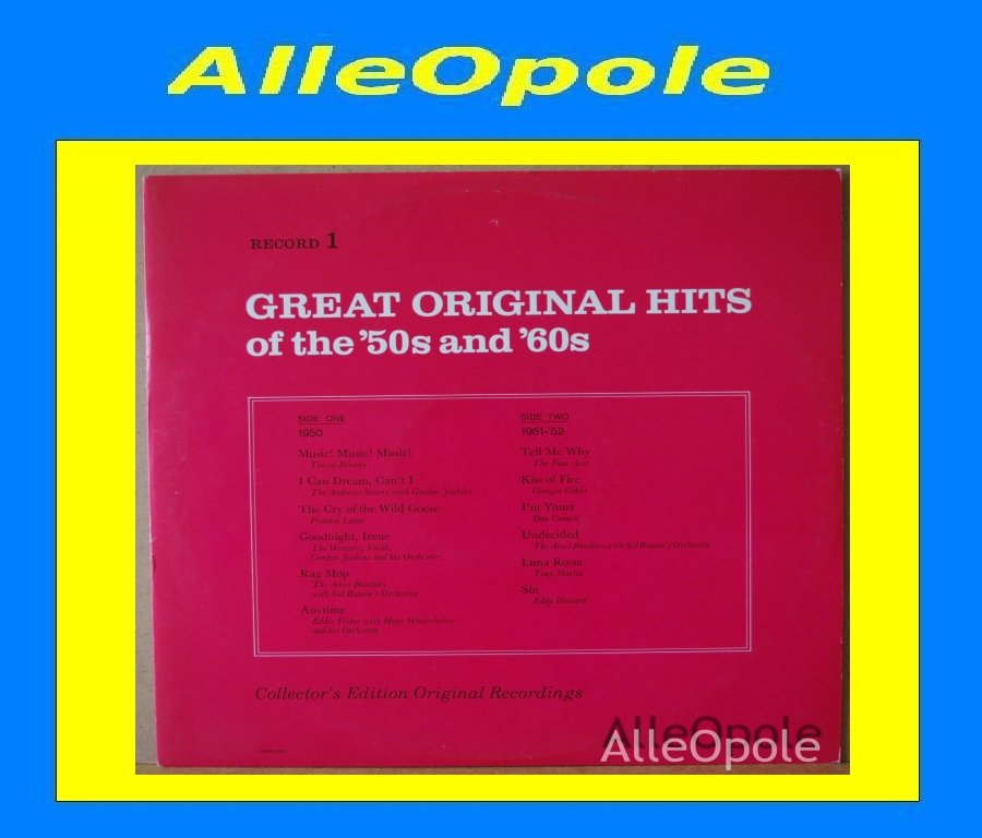 Great Original Hits of 50 and 60  cz.1 LP Opole 0204