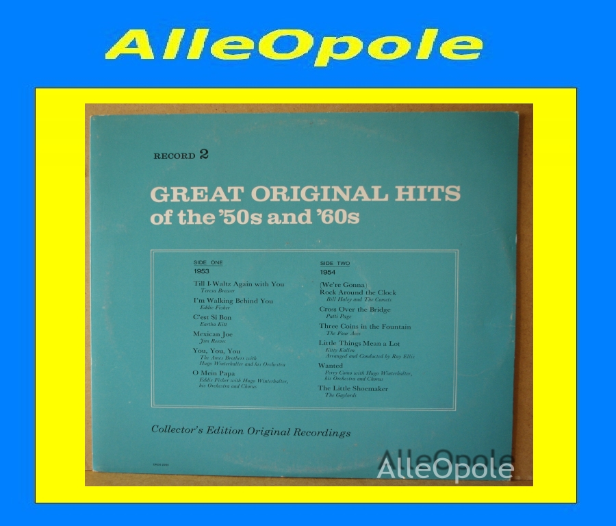 Great Original Hits of 50 and 60  cz.2 LP Opole 0205