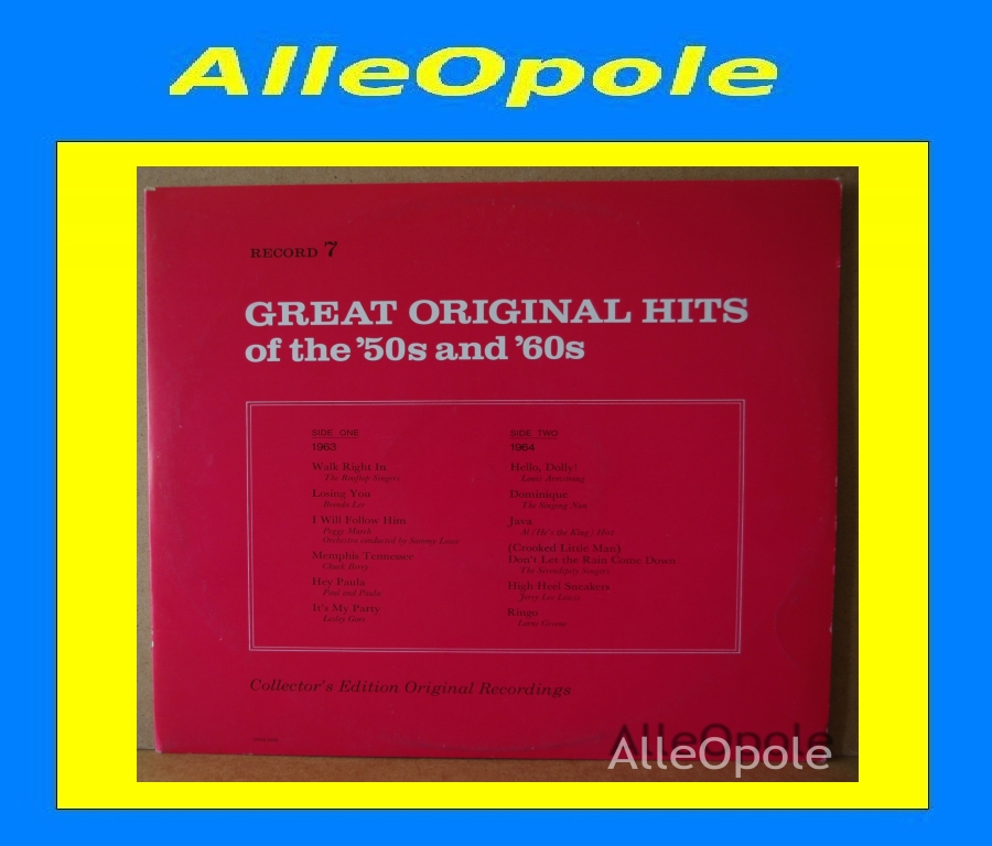 Great Original Hits of 50 and 60  cz.7 LP Opole 0206