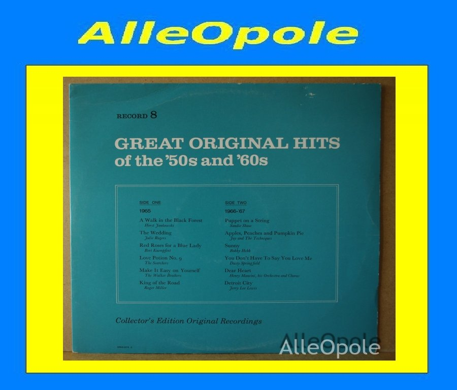 Great Original Hits of 50 and 60  cz.8 LP Opole 0207