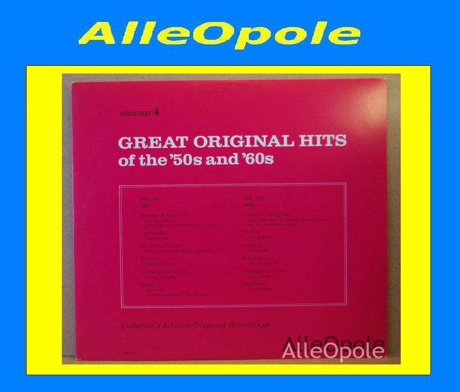 Great Original Hits of 50 and 60  cz.4 LP Opole 0217