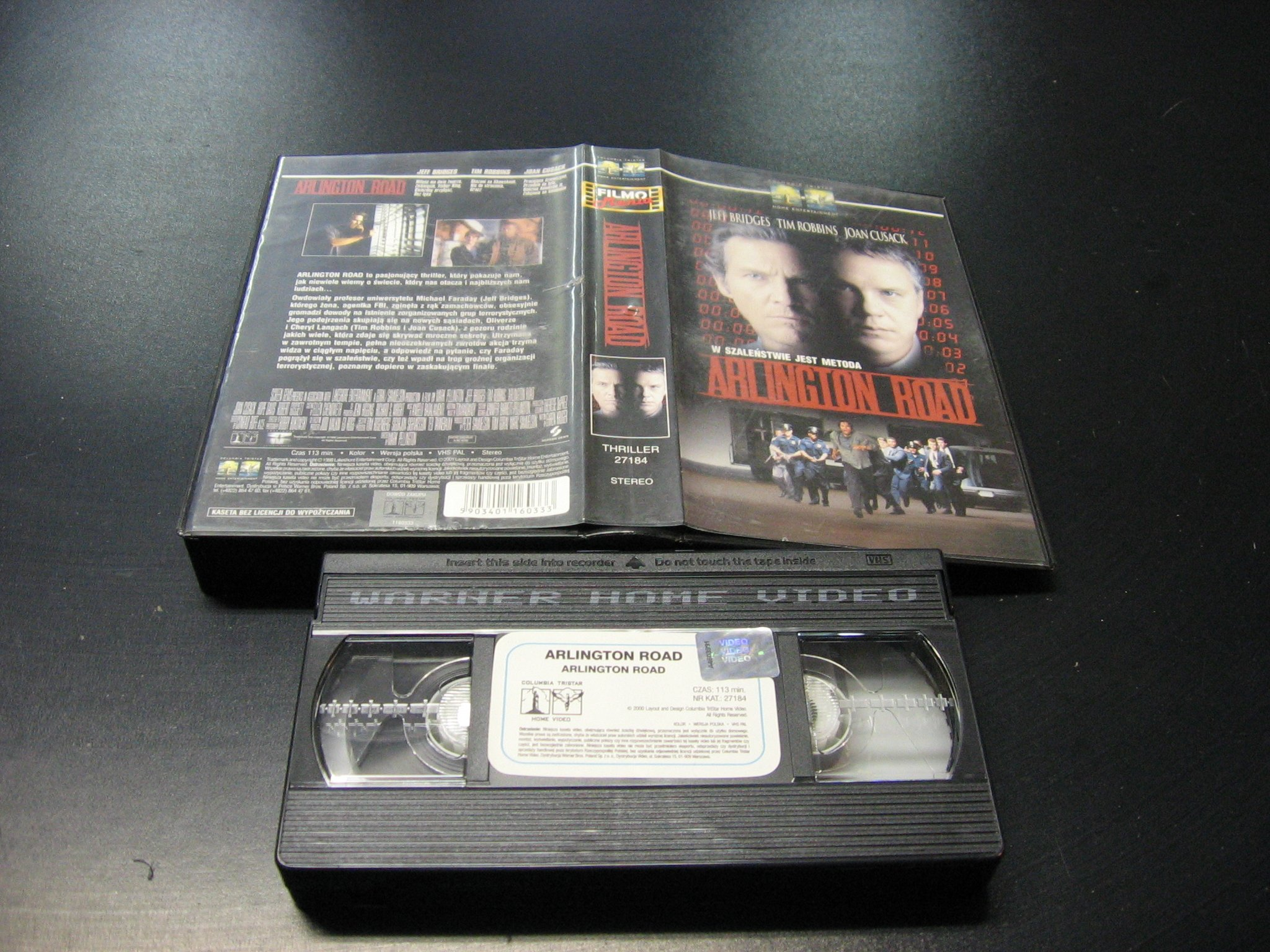 ARLINGTON ROAD - JEFF BRIDGES - JOAN CUSACK ```````````` VHS ```````````` Opole 0790 AlleOpole.pl