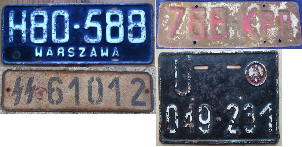 Stare tablice rejestracyjne polskie, niemieckie KUPIĘ