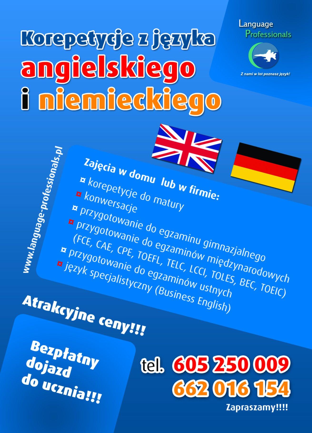 Korepetycje i kursy z języka angielskiego i niemieckiego Opole