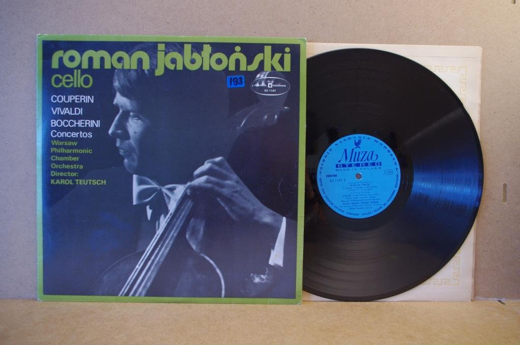 ROMAN JABLONSKI - cello / COUPERIN VIVALDI LP Opole 0305