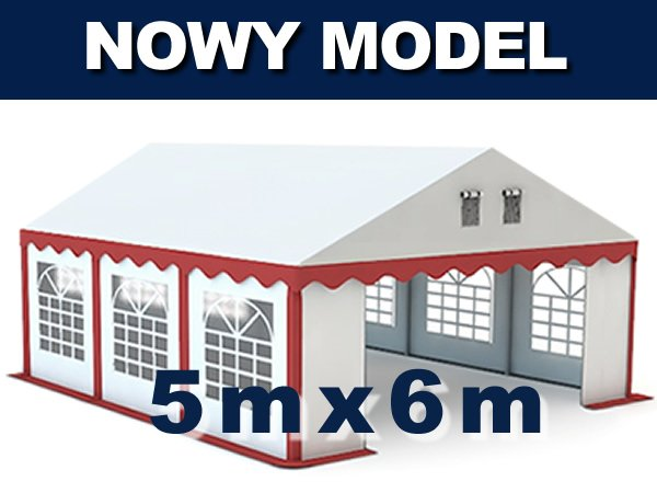 Namiot Handlowy 5m x 6m  - nowy model