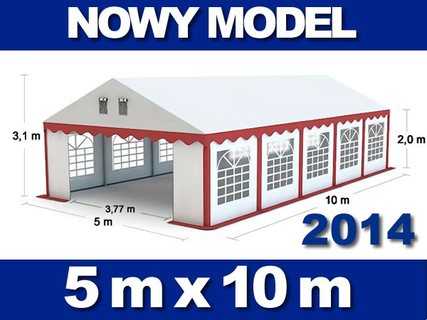 Namiot Handlowy 5m x 10m - nowy model