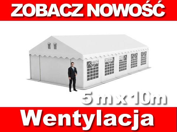 Namiot Handlowy 5m x 10m STANDARD PLUS - nowy model
